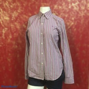 Ralph Lauren Purple Striped Button Down Shirt S